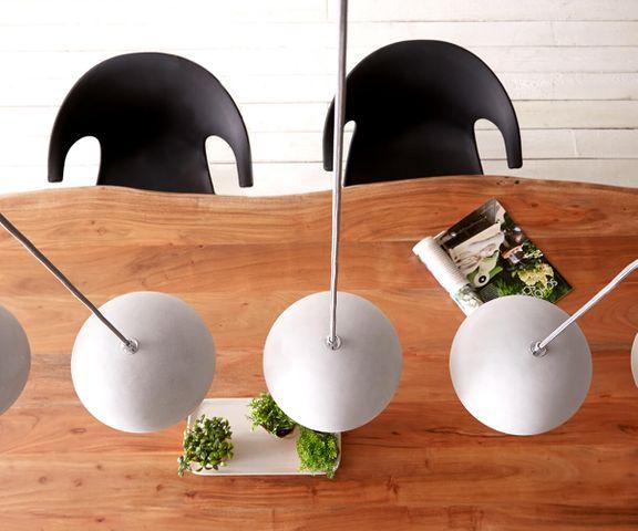 Hanglamp Pentola 115 cm grijs 5 schermen beton 3