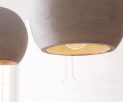 Deckenleuchte Pentola Grau 115 cm Beton 5 Schirme Hängeleuchte [11370]
