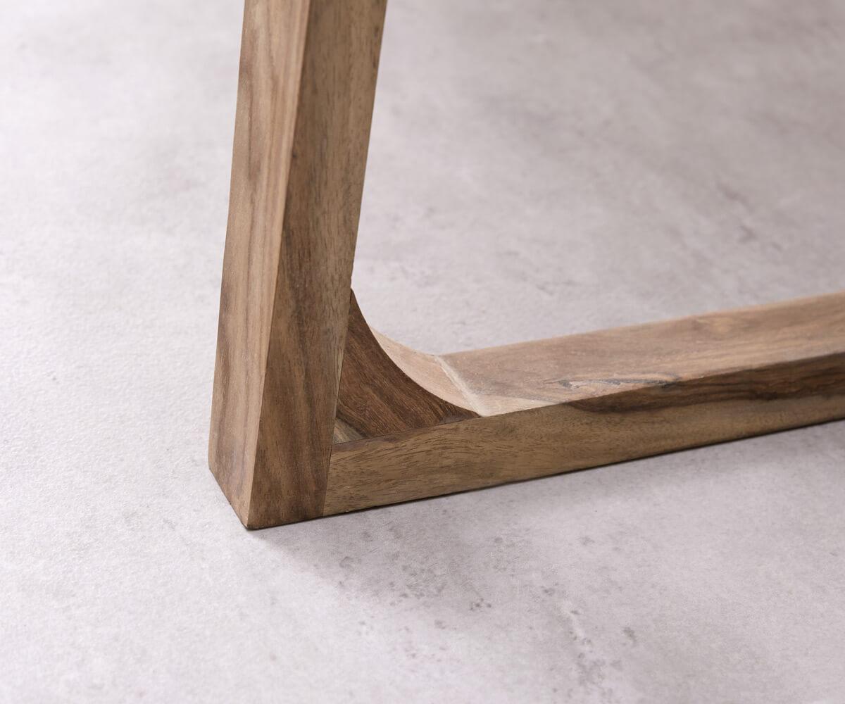 Esszimmertisch Wyatt Sheesham Natur 200x90 cm Designer Kufengestell ...