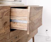 Kommode Wyatt Sheesham Natur 177 cm mit 2 Türen 2 Schübe Designer Sideboard [11375]