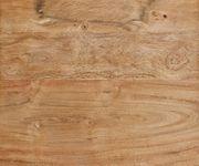 Massivholztisch Live-Edge Akazie Natur 140x90 Platte 5 cm Glasbeine Baumtisch [11419]