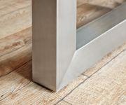 Massivholztisch Live-Edge Akazie Gebleicht 200/280x100 Ansteckplatten Gestell breit Ausziehtisch [11458]