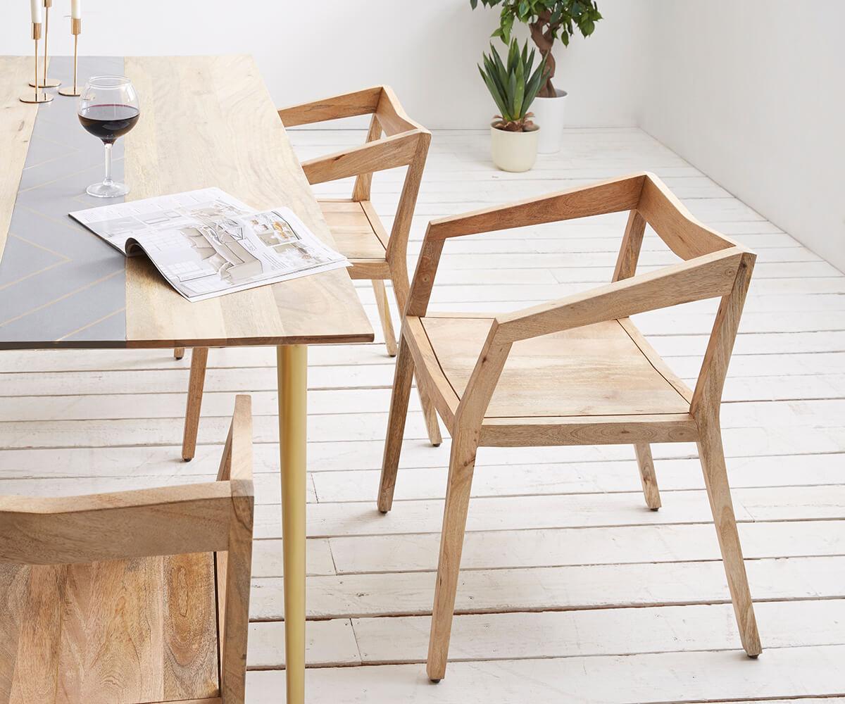 esszimmerstuhl metropolitan mango natur filigran armlehnen. Black Bedroom Furniture Sets. Home Design Ideas