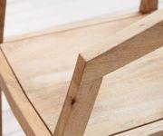 Stuhl Metropolitan Mango Natur mit Armlehnen filigran Massivholz Esszimmerstuhl [11470]