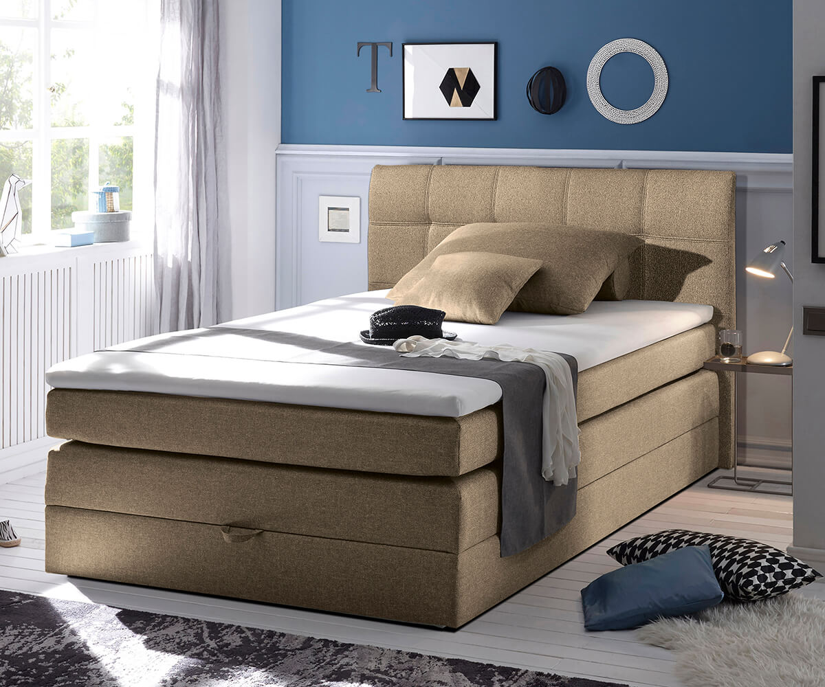 boxspringbett ohne federkern trendiges boxspringbett youngster mit paneelen von oschmann. Black Bedroom Furniture Sets. Home Design Ideas