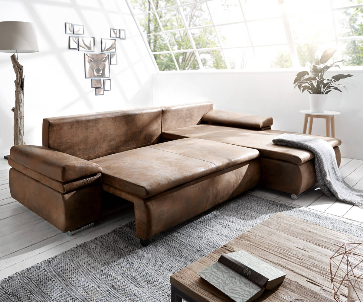 ecksofa gitano 300x175 braun antik optik schlaffunktion m bel sofas ecksofas. Black Bedroom Furniture Sets. Home Design Ideas