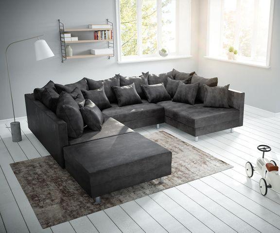 Couch Clovis Anthrazit