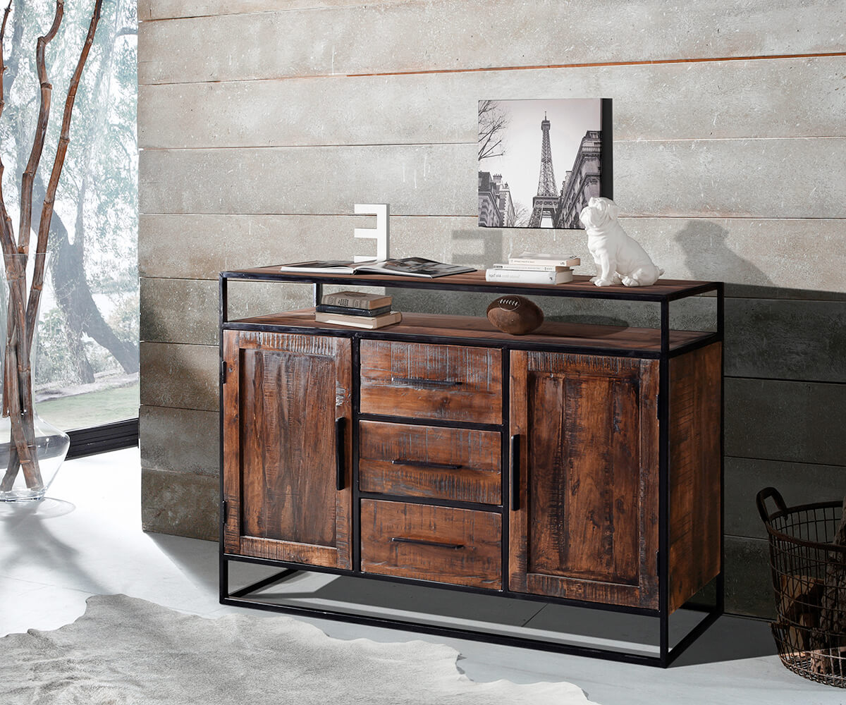sideboard spring 150 cm akazie forest 2 t ren 3 sch be m bel kommoden schr nke sideboards. Black Bedroom Furniture Sets. Home Design Ideas