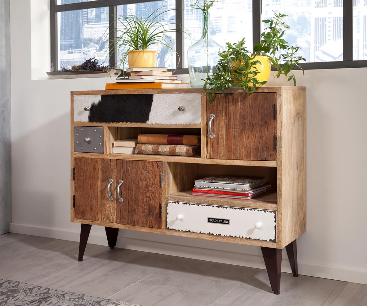 sideboard himalaya 120 cm mango natur 3 sch be 3 t ren. Black Bedroom Furniture Sets. Home Design Ideas