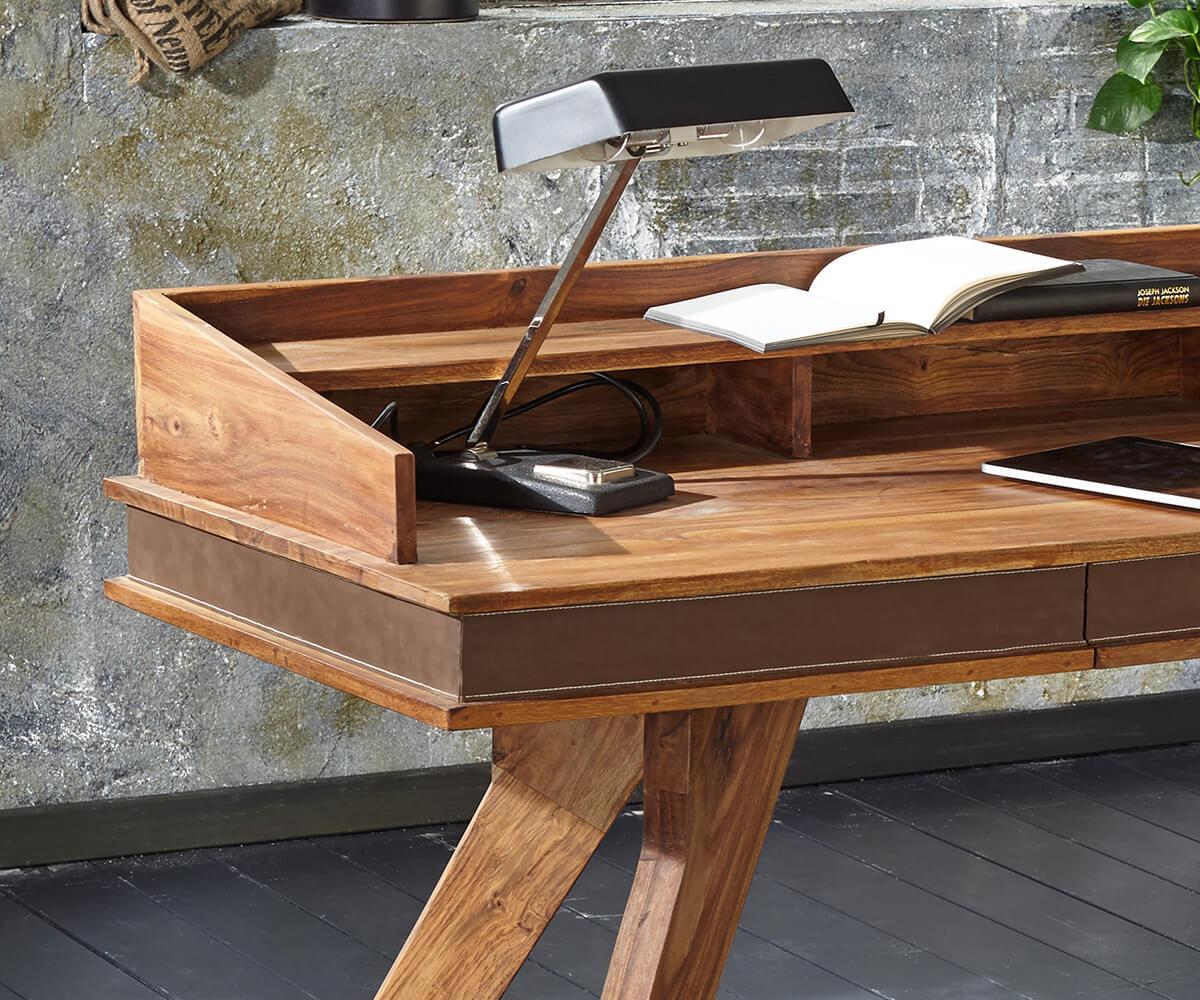 b rotisch shan sheesham shina 150x60 cm schublade massivholz schreibtisch ebay. Black Bedroom Furniture Sets. Home Design Ideas