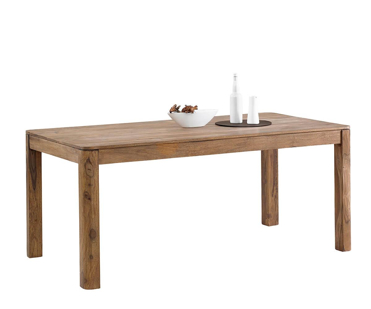 Meubels Massief Hout : Eettafel boston 200x100 cm sheesham natuur massief hout meubels