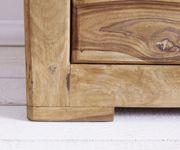Kommode Boston Sheesham Natur 177 cm mit 3 Türen 3 Schübe Massivholz Sideboard [12052]