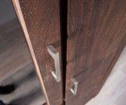 Hochschrank Creed Akazie Tabak 90 cm 1 Tür 3 Schübe Massivholz Highboard [12054]
