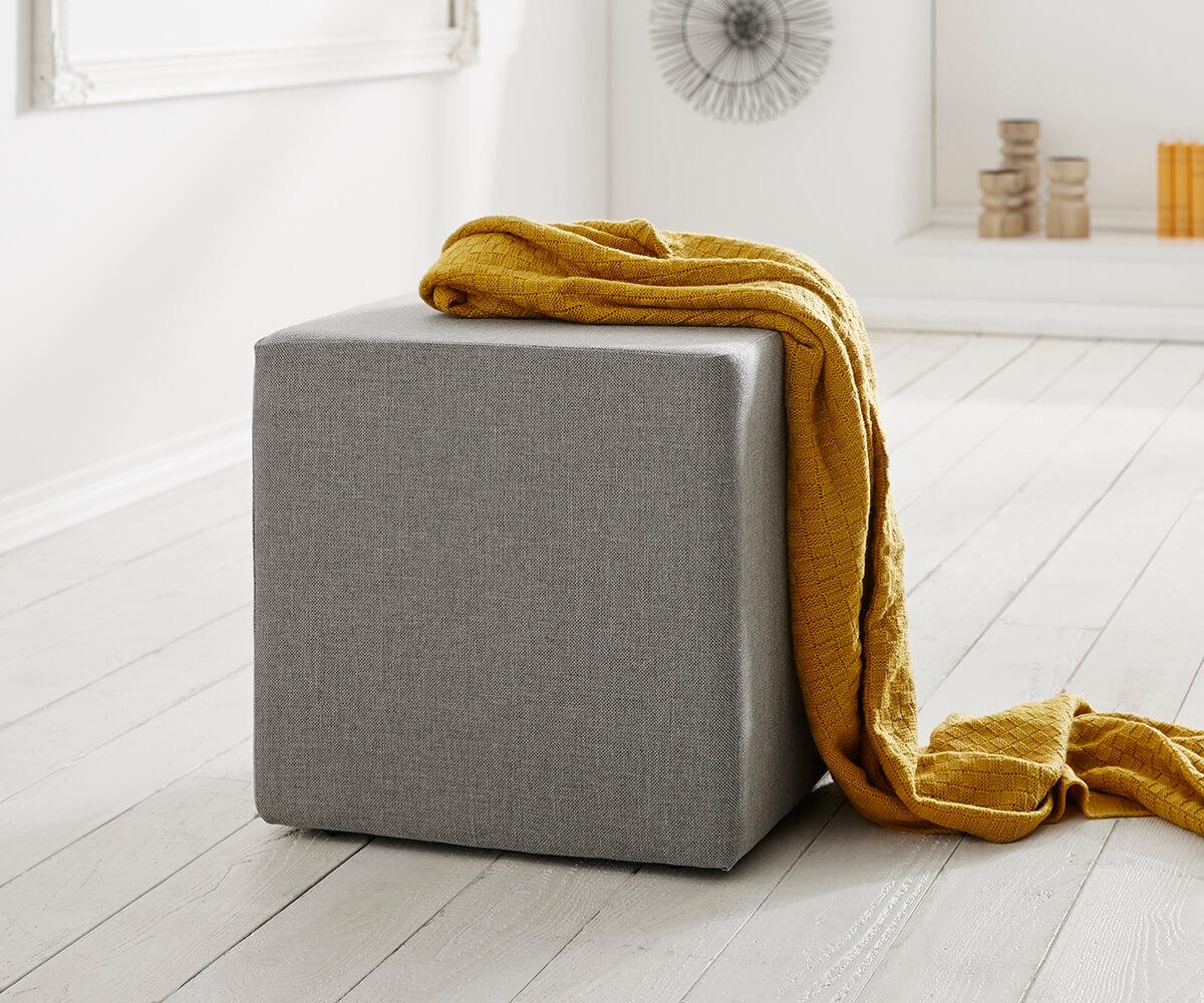 Zitkubus Dado 45x45 cm grijs poef
