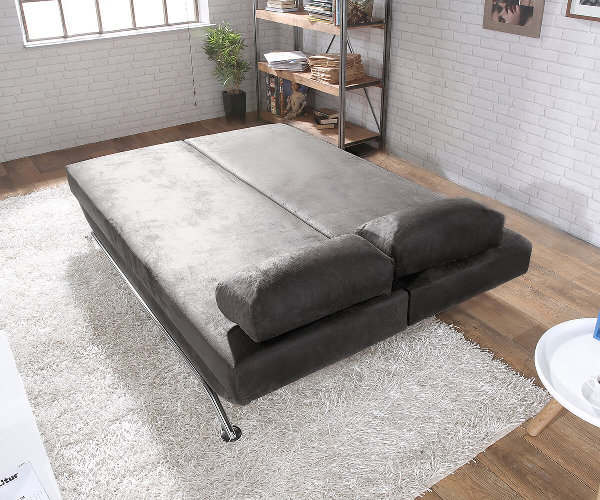 schlafcouch cady anthrazit 200x90 cm antik schlaffunktion bettkasten schlafsofa ebay. Black Bedroom Furniture Sets. Home Design Ideas