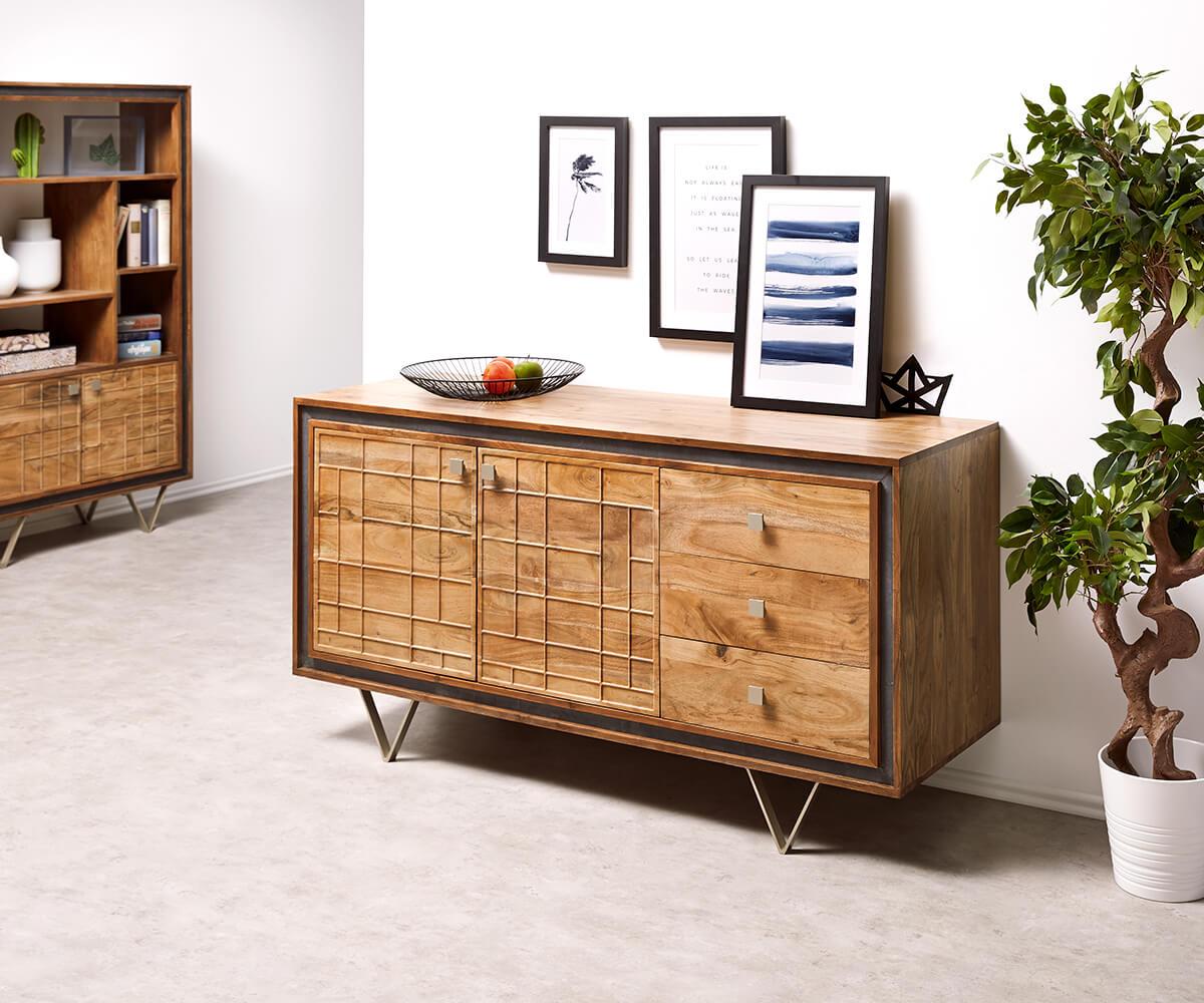 delife-designer-sideboard-stonegrace-147-cm-akazie-natur-3-schube-sideboards