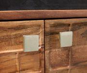 Fernsehtisch Stonegrace Akazie Natur 200 cm 4 Türen Steinfurnier Designer Lowboard [11825]