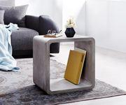Würfelregal Zaara Grau 45x35 cm Beton Zement Beistelltisch Cube [11829]
