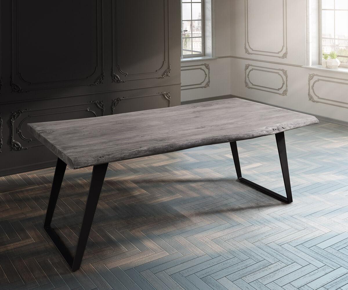 baumtisch live edge 180x90 akazie platin platte 5 5cm. Black Bedroom Furniture Sets. Home Design Ideas