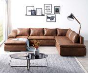 Couch Abilene Braun 330x230 cm Ottomane variabel Schlaffunktion Wohnlandschaft [11850]