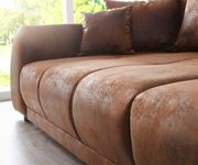 Bigsofa Violetta Braun 310x135 cm Antik Optik inklusive Kissen Big-Sofa [11852]