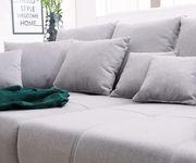 Bigsofa Violetta Grau 310x135 cm abgesteppt inklusive 12 Kissen Big-Sofa [11854]