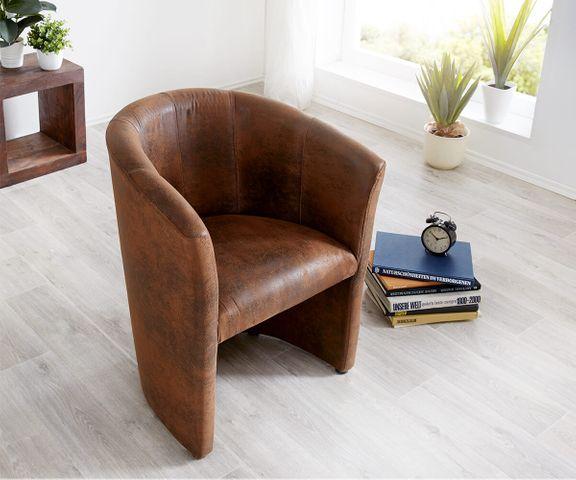 Cocktailstoel Pieder bruin Lounge gestoffeerde antieke look 3