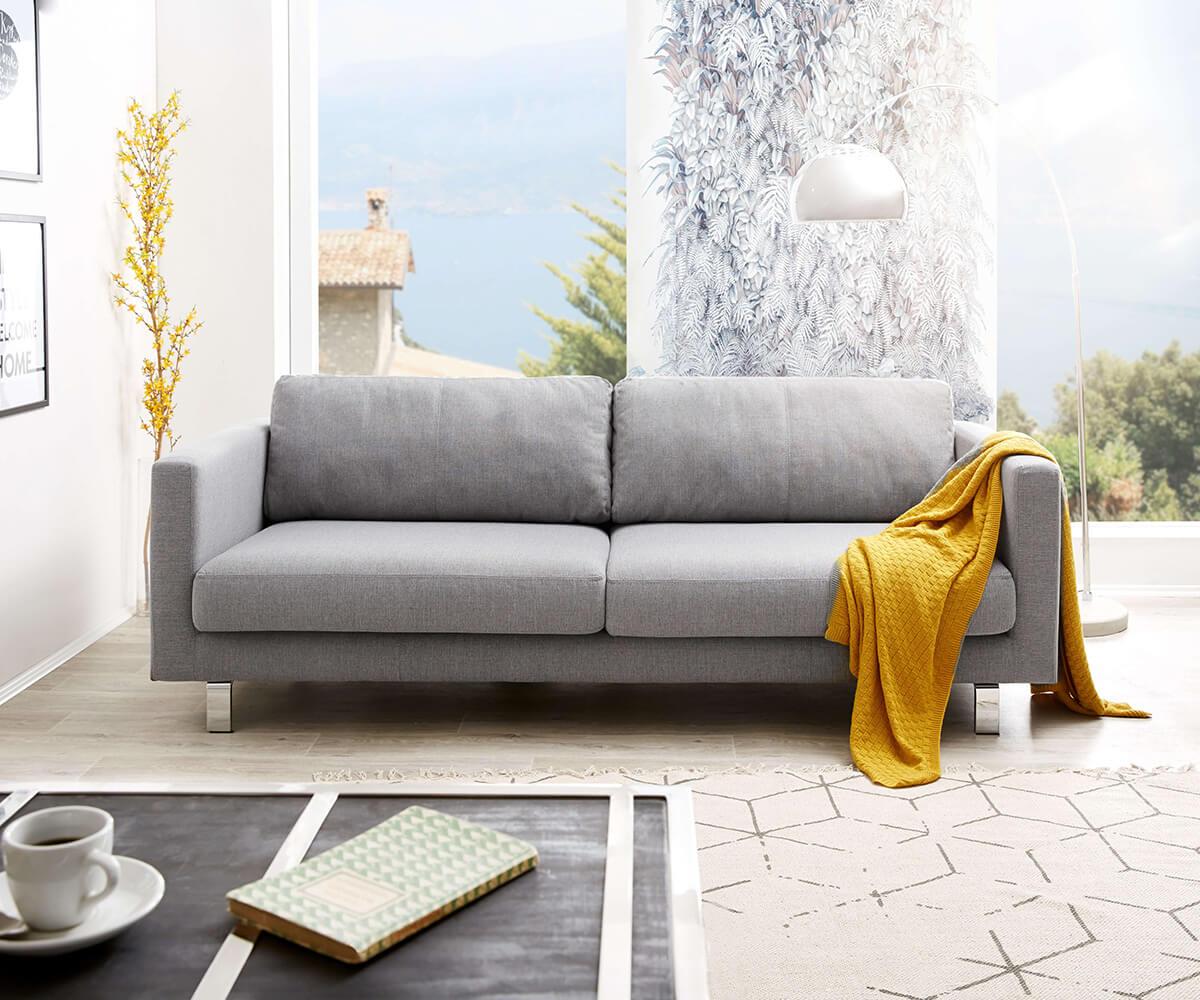 3 sitzer baracca 220x95 cm grau bauhausstil kissen sofa m bel sofas 2 3 sitzer. Black Bedroom Furniture Sets. Home Design Ideas
