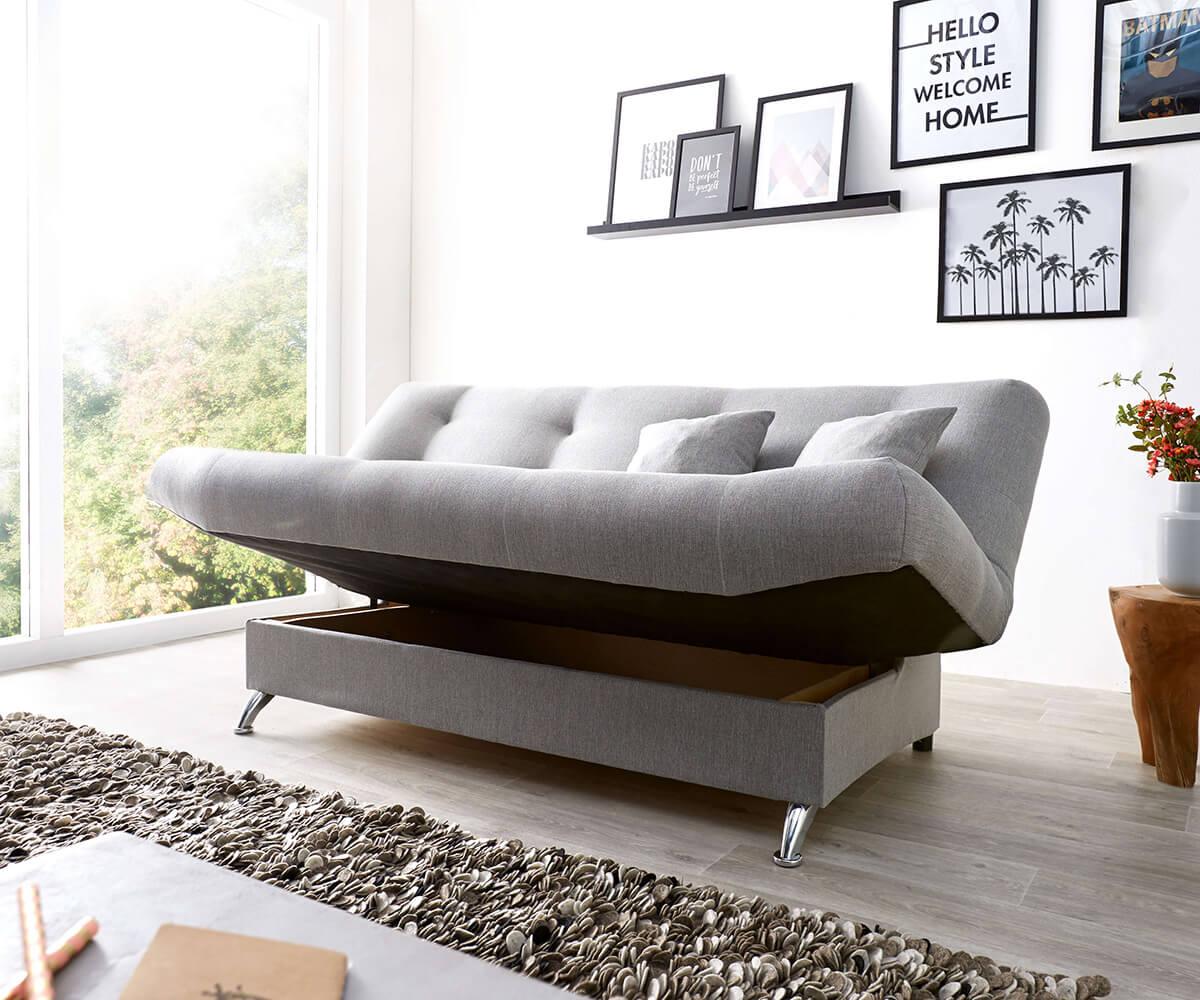 schlafcouch grau sitzer schlafsofa weigrau inklusive. Black Bedroom Furniture Sets. Home Design Ideas