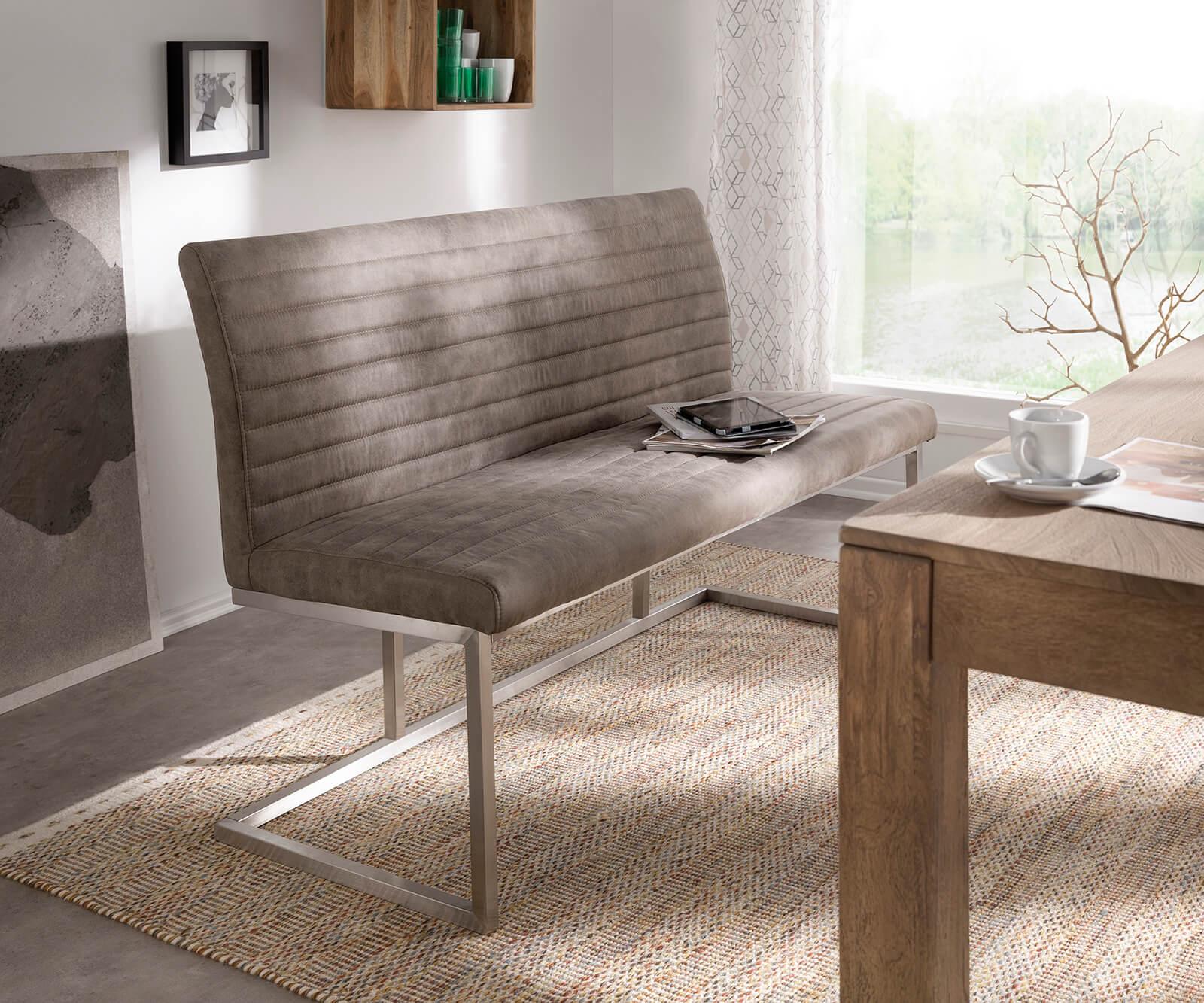 Sitzbank 140 Cm : sitzbank earnest 140 cm taupe vintage abgesteppt m bel ~ Watch28wear.com Haus und Dekorationen