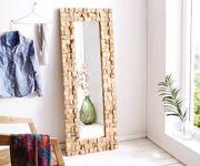 Spiegel Padma Teak Natur 160x60 cm Massivholz Unikat handgefertigt Wandspiegel [12286]