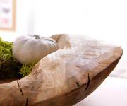 Obstschale Cascaya Teakholz Natur 50x50 cm Unikat Handarbeit massiv Schale [12301]