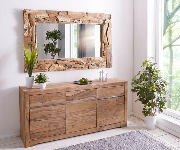 Wandspiegel Ingar 160x100 cm teakhout natuurlijk unicum hout  2