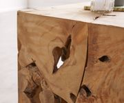 Beistelltisch Delores Teakholz Natur 40x40 cm Massivholz Unikat Dekotisch [12306]