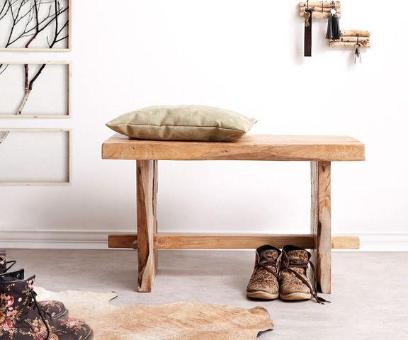 Zitbank Ferda 80x40 cm teakhout hout massief hout unicum 1