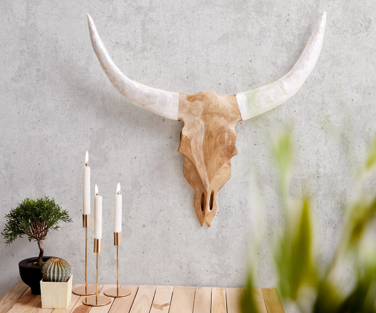 delife-geweih-stierkopf-65x60-cm-teak-natur-horn-weiss-unikat-dekoartikel