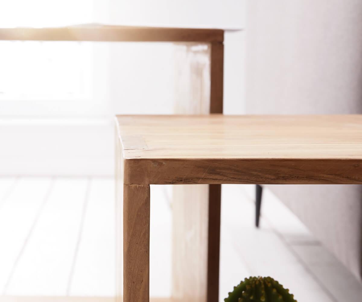 Würfelregal Teva Teakholz Natur 50x50 Cm Massivholz 2er Set Cube