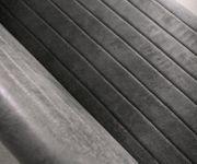Essbank Earnest Grau Vintage 140 cm mit Armlehne Gestell Edelstahl Sitzbank [12405]