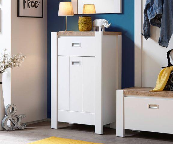 Schoenenkast Medine wit 64 cm deur en lade Schoenenkast  3
