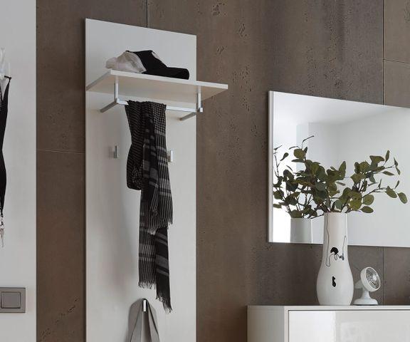 Garderobe Willa 40cm wit hoogglans met legplank 2