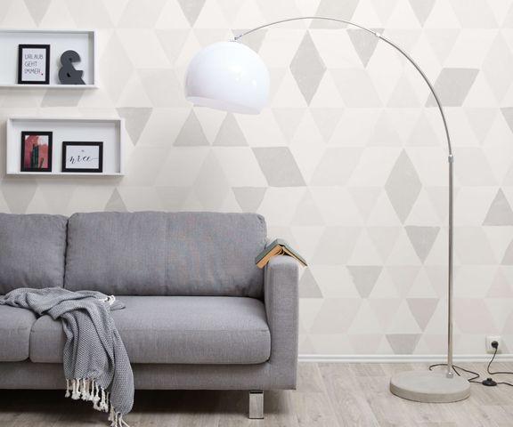 Booglamp Big-Deal Eco zilver wit betonnen voet in hoogte verstelbaar 1
