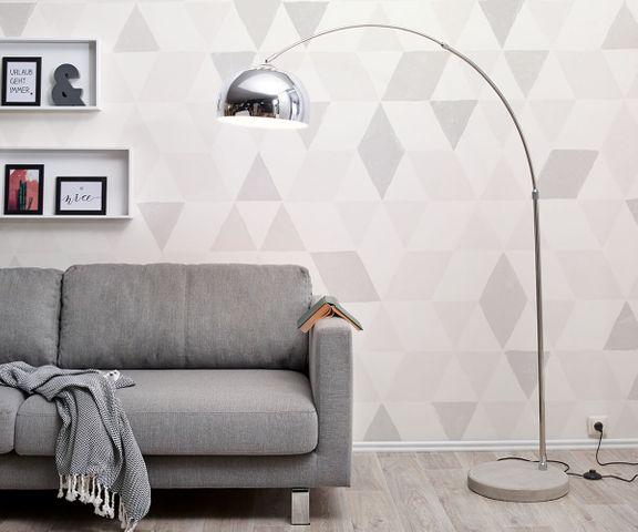 Big-Deal Eco zilver booglamp betonnen voet in hoogte verstelbaar 1