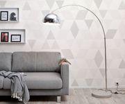 Stehlampe Big-Deal Eco Silber Betonfuß höhenverstellbar Bogenleuchte [12459]