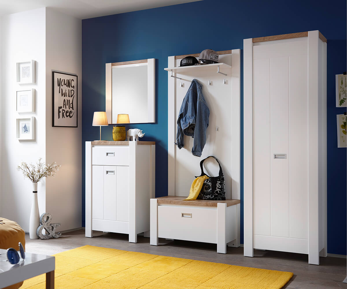 Garderobe-set Medine 230 cm wit mat veel opbergruimte