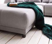 Bigsofa Violetta Grau 310x135 cm inklusive Hocker und Kissen Big-Sofa [12479]