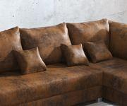 Couch Panama Braun Wohnlandschaft modular [12502]