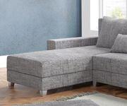 Couch Panama Hellgrau Longchair variabel mit Hocker Ecksofa modular [12511]
