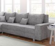 Couch Panama Hellgrau Longchair variabel Ecksofa modular [12512]