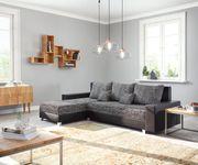 Couch Panama Schwarz Longchair variabel Ecksofa modular [12514]