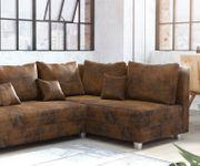Couch Panama Braun Ottomane rechts Ecksofa modular [12520]